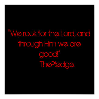 """""""ThePledge: For the Lord"""" poster"""