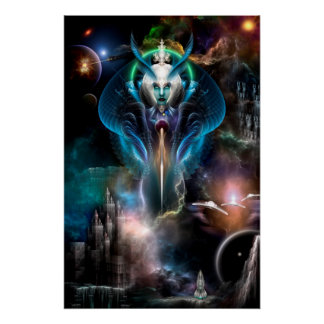 Thera Queen Of The Galaxy Perfect Poster