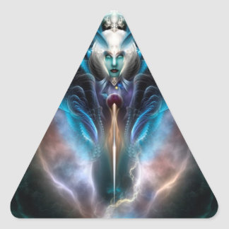 Thera The Ethereal Queen Triangle Sticker