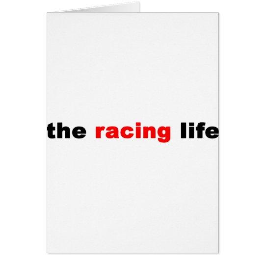 TheRacingLife-LogoOverWhite Card