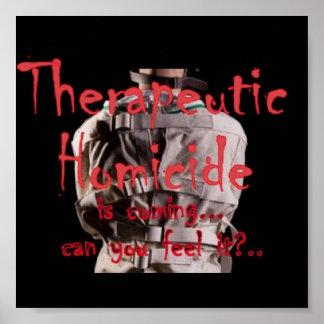 Therapeutic Homicide Logo Poster
