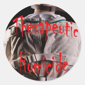 Therapeutic Homicide logo sticker