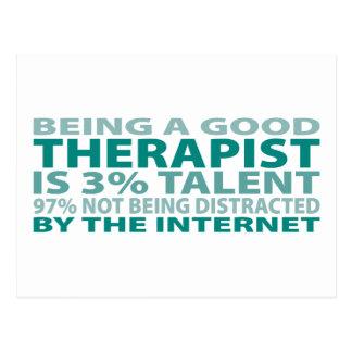 Therapist 3% Talent Postcard
