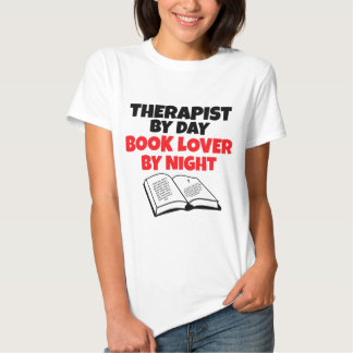 Therapist by Day Book Lover by Night T Shirt