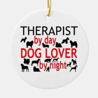 Therapist Dog Lover Ceramic Ornament