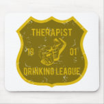 Therapist Drinking League Mouse Mat