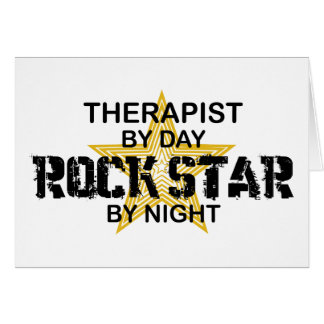 Therapist Rock Star by Night Greeting Cards