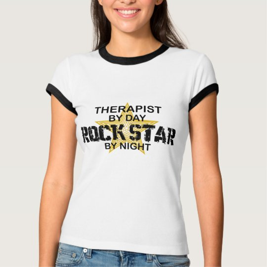Therapist Rock Star by Night T-Shirt