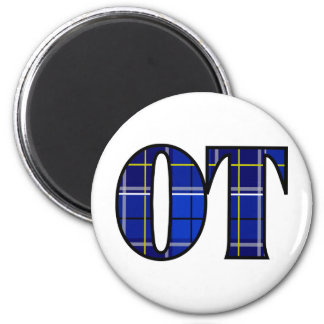 therapist thing ot blue 2 inch round magnet