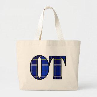 therapist thing ot blue jumbo tote bag