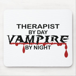Therapist Vampire by Night Mouse Pad