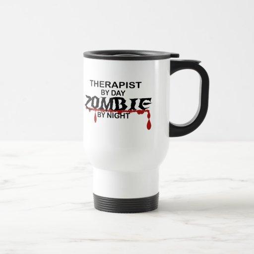 Therapist Zombie 15 Oz Stainless Steel Travel Mug