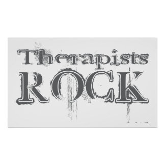 Therapists Rock Poster