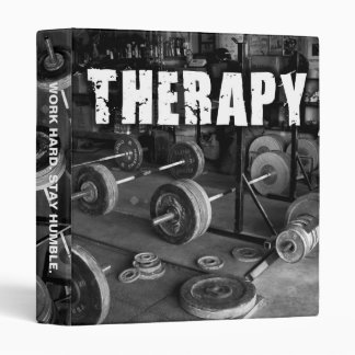 "THERAPY (Barbells) - ""Weight lifting"" Motivational Binder"