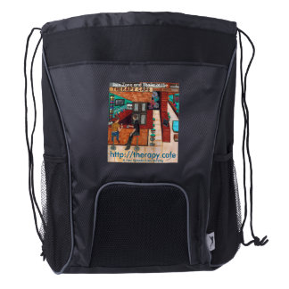 Therapy Café Drawstring Backpack
