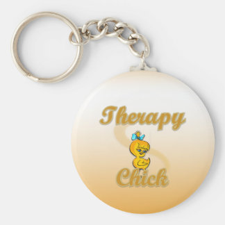 Therapy Chick Keychain