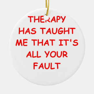 therapy christmas ornament