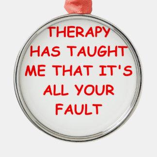 therapy christmas tree ornament
