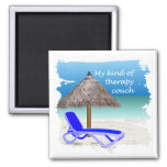 Therapy Couch 2 Inch Square Magnet