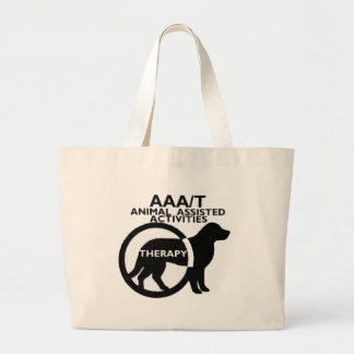 THERAPY DOG ANIMAL ASSISTED ACTIVITIES CANVAS BAG