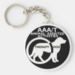 THERAPY DOG ANIMAL ASSISTED ACTIVITIES BASIC ROUND BUTTON KEYCHAIN