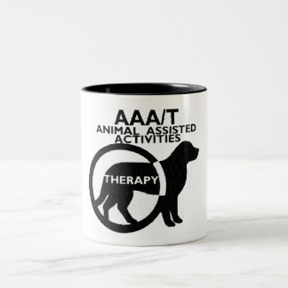 THERAPY DOG ANIMAL ASSISTED ACTIVITIES Two-Tone COFFEE MUG