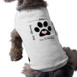 Therapy Dog (Black Paw) Pet Tee