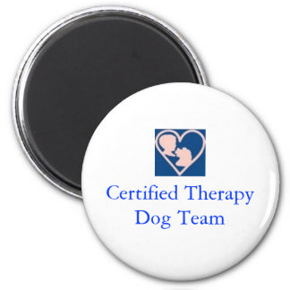 Therapy Dog Foundation-Magnet 2 Inch Round Magnet