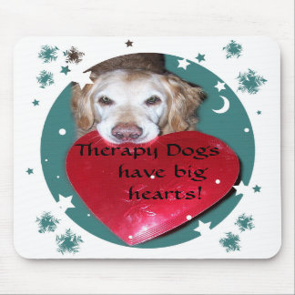 Therapy Dog Golden Retriever Mouse Pad
