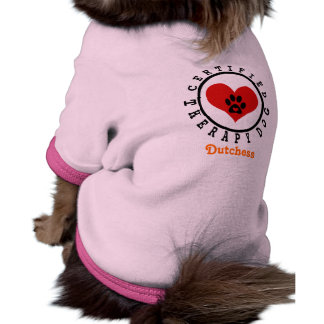 Therapy Dog Heart and Paw Doggie Tshirt