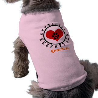 Therapy Dog Heart and Paw Tee