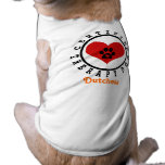 Therapy Dog - Heart Paw and Name Pet Tshirt