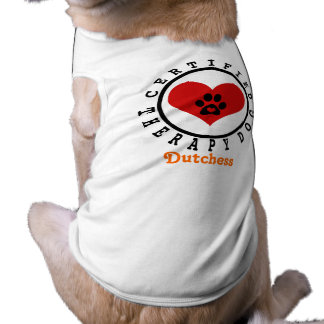 Therapy Dog - Heart Paw and Name Tee