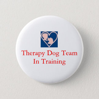 therapy_dog_insignia, Therapy Dog Team In Training Button