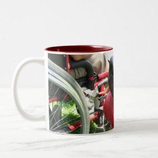 THERAPY DOG LABRADOR PHOTO Two-Tone COFFEE MUG