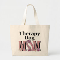 Therapy Dog MOM Large Tote Bag