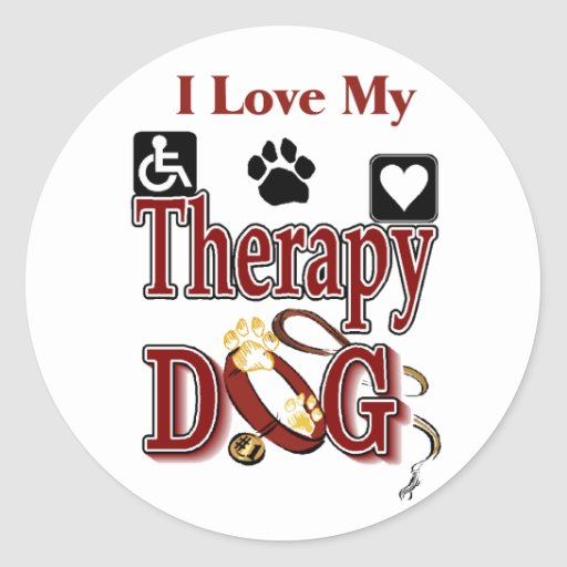 Therapy Dog Owners Gifts Classic Round Sticker