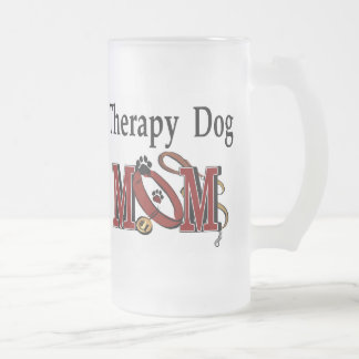 Therapy Dog Owners Gifts Frosted Glass Beer Mug
