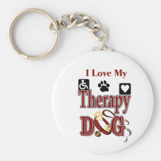 Therapy Dog Owners Gifts Keychains