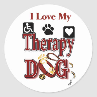 Therapy Dog Owners Gifts Stickers