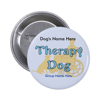 Therapy Dog Pinback Button