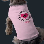"""Therapy Dog Pink Heart Paw and Name T-Shirt<br><div class=""""desc"""">See more at http://wearwoofs.weebly.com   Big pink heart and a paw with another little heart in the center. Certified Therapy Dog! Personalize with your pup&#39;s name.</div>"""
