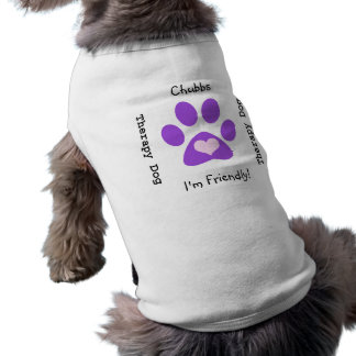 Therapy Dog Purple Paw Shirt