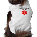 Therapy Dog Red Medical Alert Tank Top Shirt Pet Tee Shirt