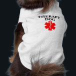 """Therapy Dog Red Medical Alert Tank Top Shirt Vest<br><div class=""""desc"""">Therapy Dog Red Medical Alert Tank Top Shirt</div>"""