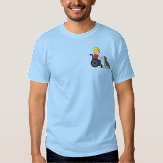 Therapy Dog Schnauzer Embroidered T-Shirt