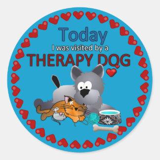 Therapy Dog Souvenir Sticker