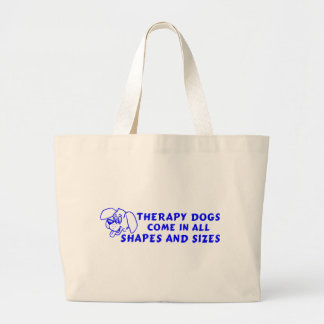 THERAPY DOGS LARGE TOTE BAG
