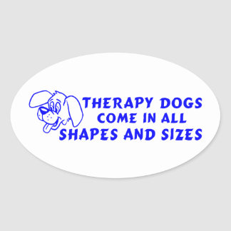 THERAPY DOGS OVAL STICKER