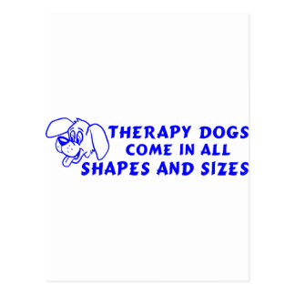 THERAPY DOGS POSTCARD